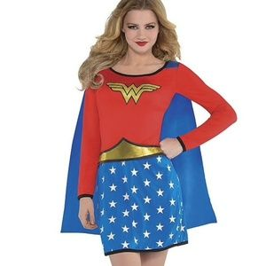Wonder Woman costume long sleeve with cape size M